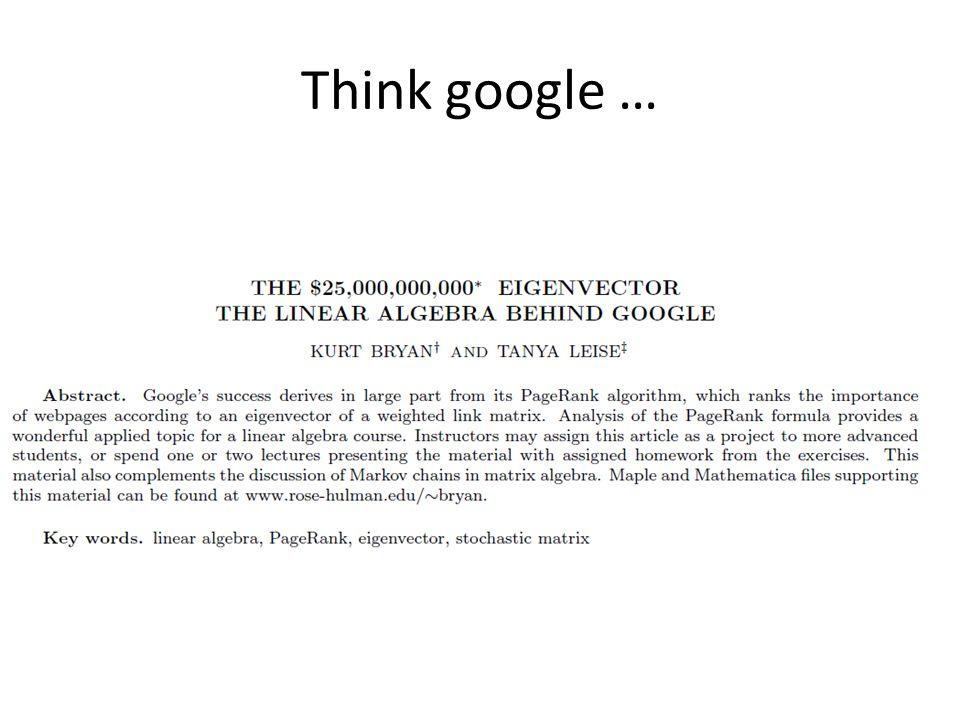 Think google …