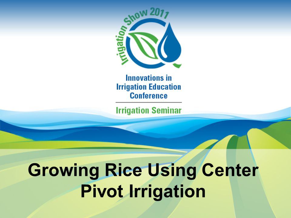 Irrigation Management Since US rice almost always produced with flood irrigation, little work devoted to scheduling rice irrigation Objective: develop procedure for scheduling irrigations on sprinkler irrigated rice