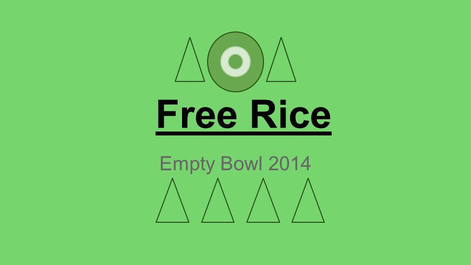 Free Rice Empty Bowl 2014