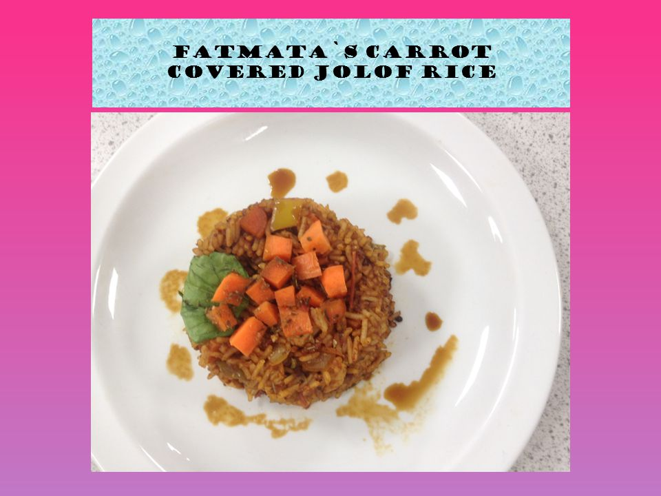 Fatmata`s Carrot covered Jolof Rice
