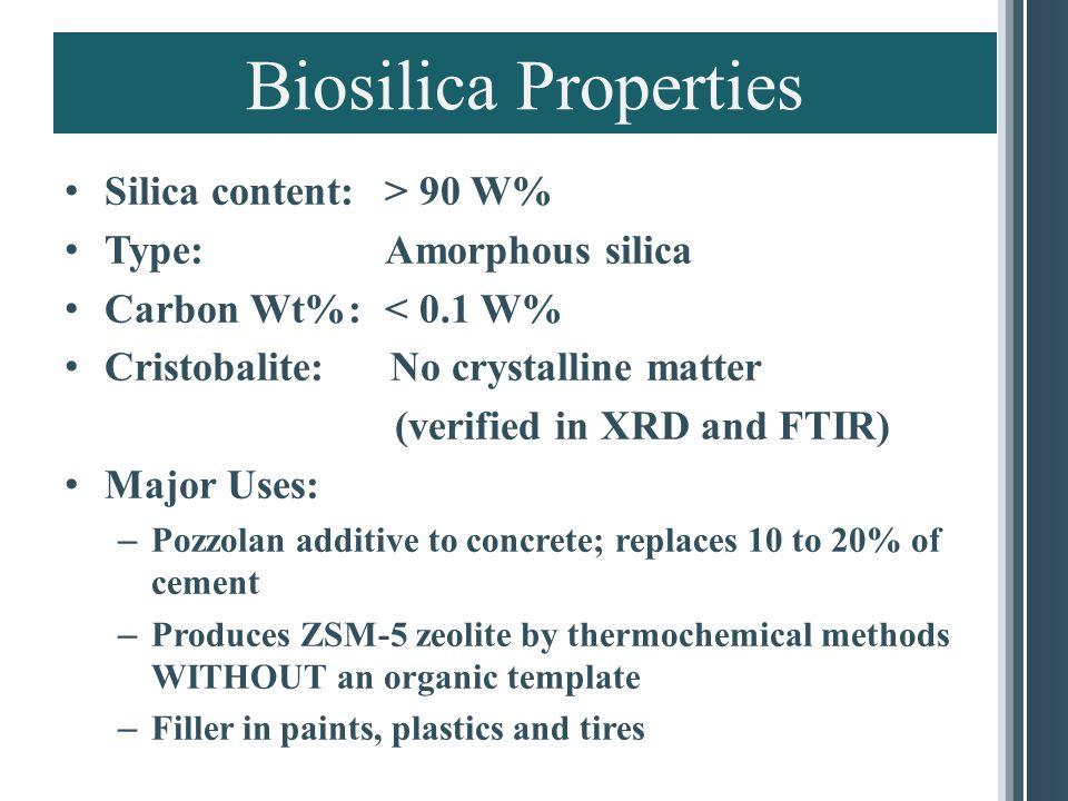 Biosilica High Performance Cement and In Architectural Cement Unground Ground.