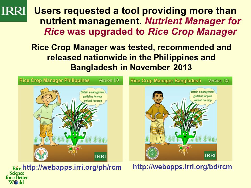 Users requested a tool providing more than nutrient management.
