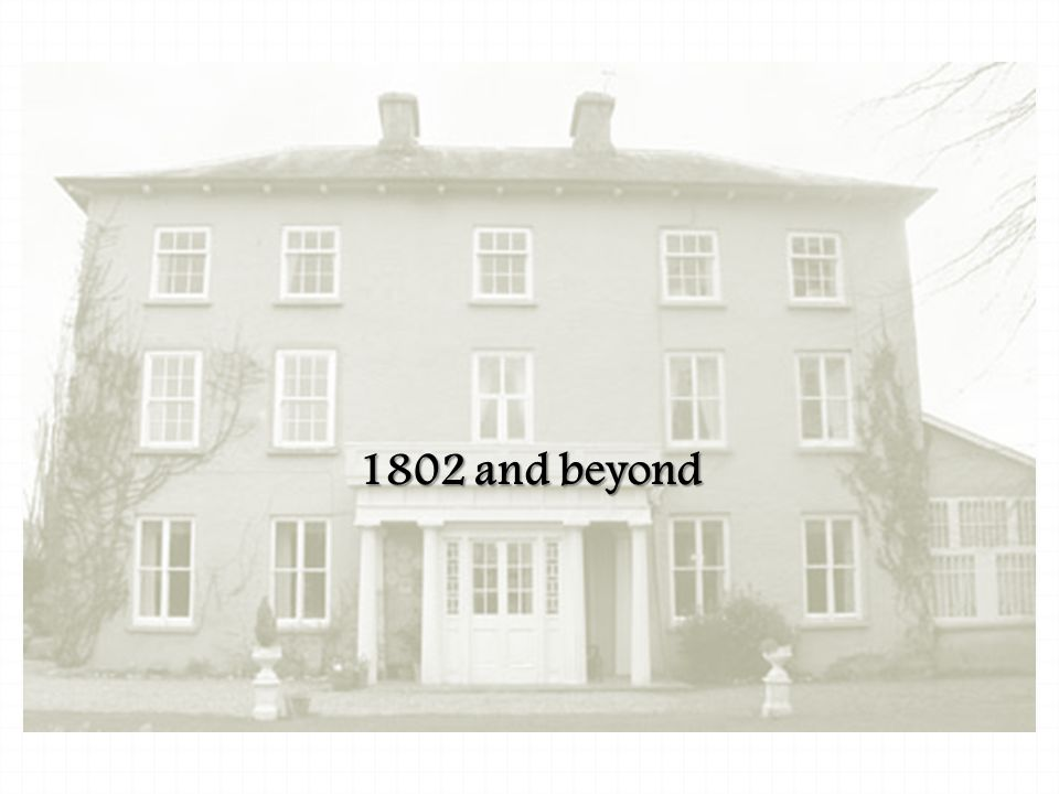 A new beginning 1802 and beyond
