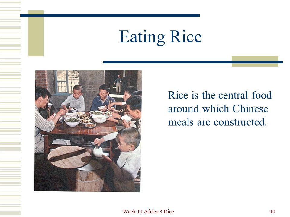 Eating Rice The classic Western vision of rice is the Chinese rice bowl, awaiting the chopsticks.