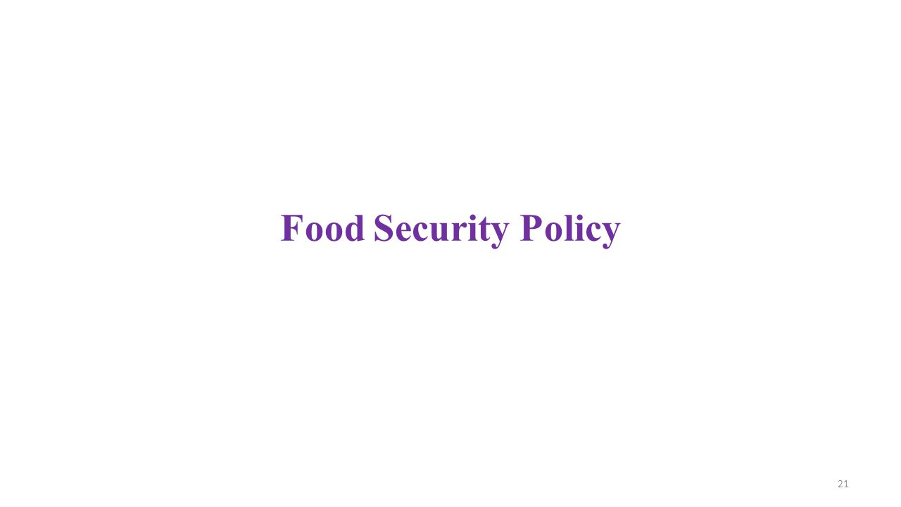 Food Security Policy 21