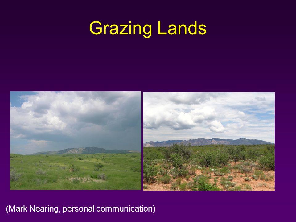 Grazing Lands (Mark Nearing, personal communication)