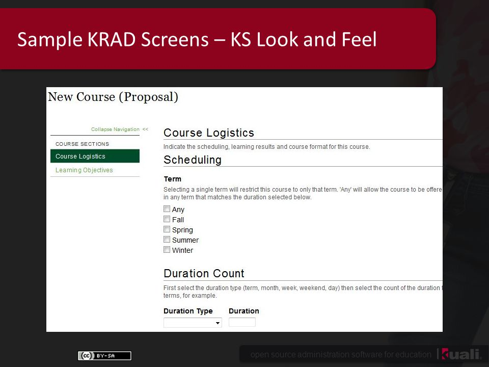 open source administration software for education Sample KRAD Screens – KS Look and Feel