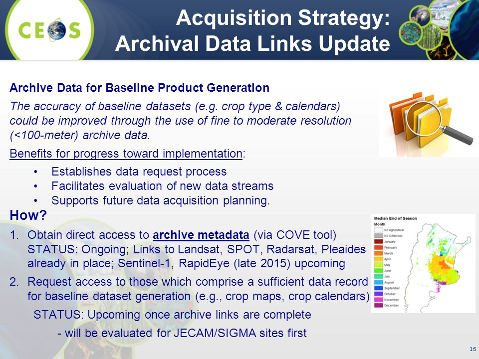 16 Archive Data for Baseline Product Generation The accuracy of baseline datasets (e.g.