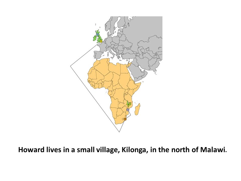 Howard lives in a small village, Kilonga, in the north of Malawi.