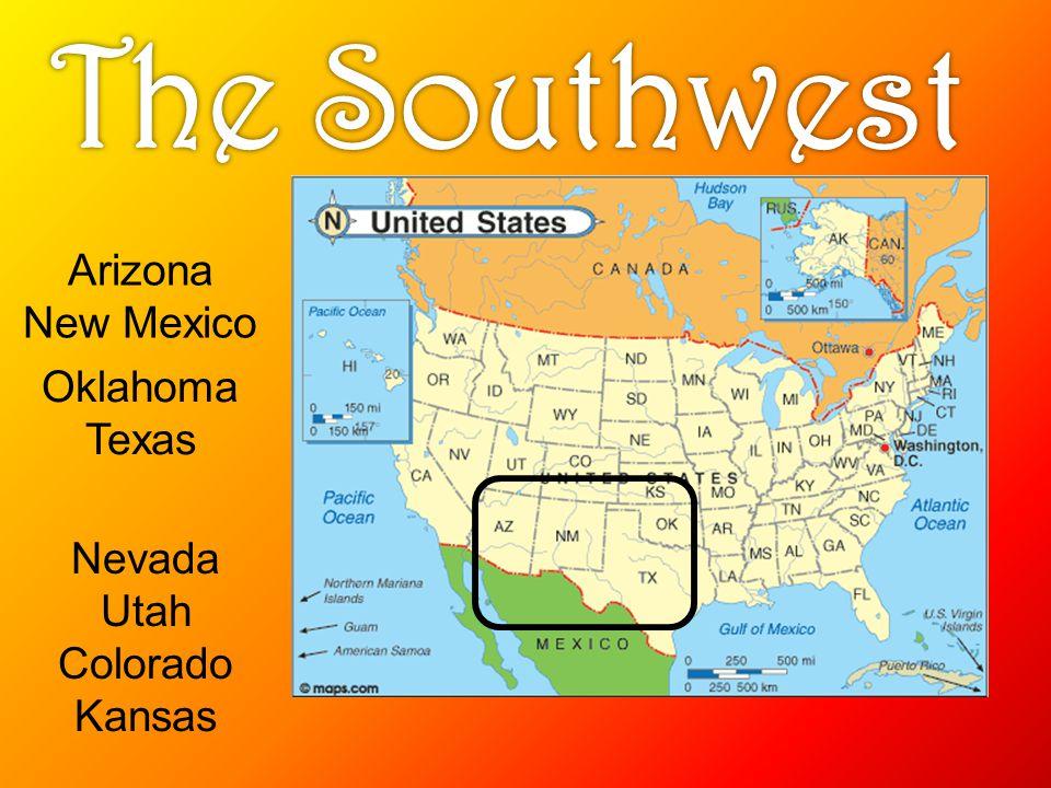 Oklahoma Texas Arizona New Mexico Nevada Utah Colorado Kansas