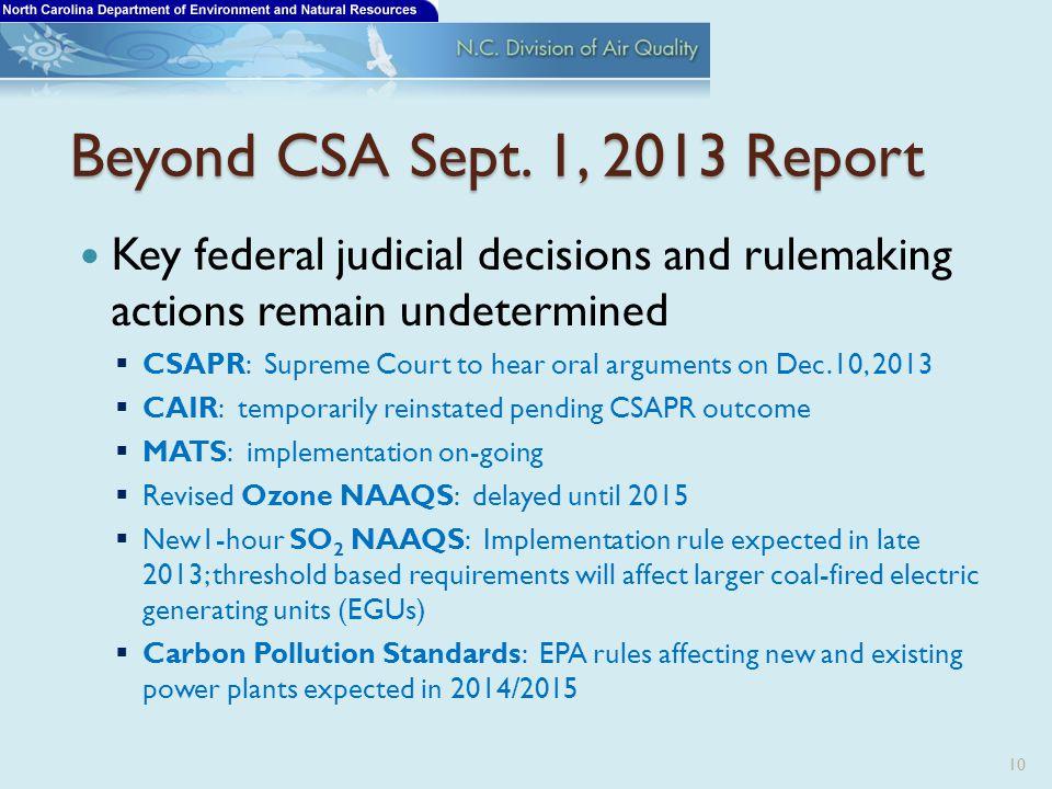 Beyond CSA Sept.