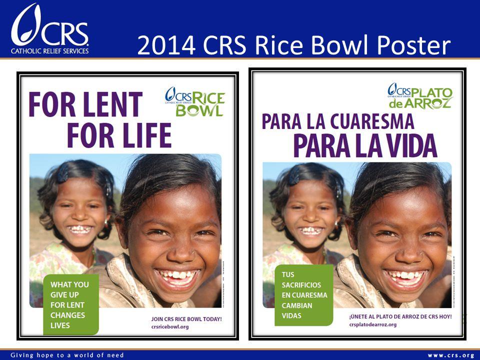 2014 CRS Rice Bowl Poster