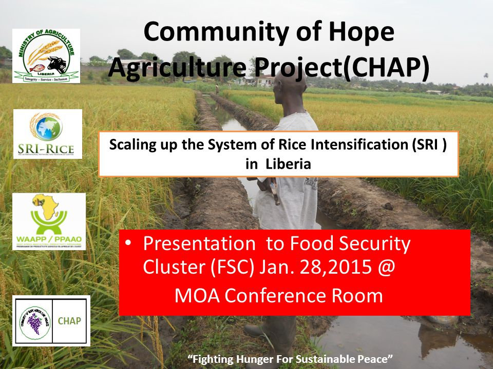 Liberia SRI GPS MAP Fighting Hunger For Sustainable Peace