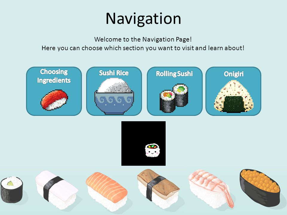Navigation Welcome to the Navigation Page.