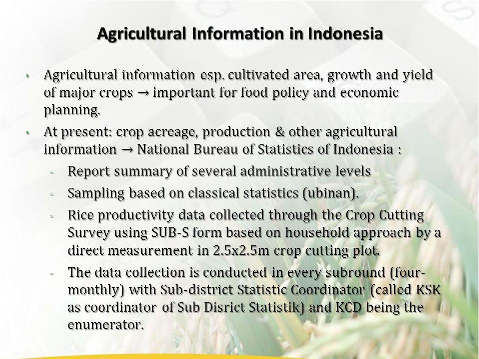 Agricultural information esp.