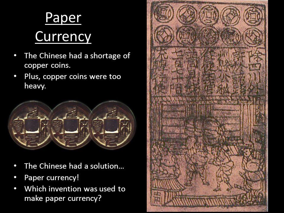 Copper coins Paper money