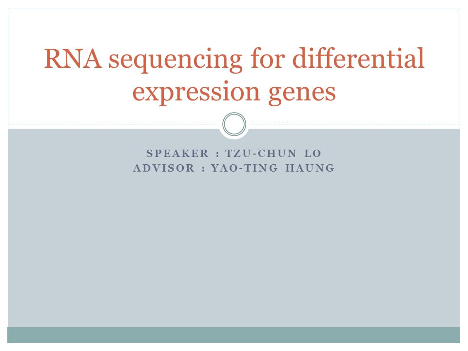 Outline Molecular Central Dogma RNA Sequencing Differential Expression Gene Case–Control Study Negative Binomial Distribution Hypothesis Testing Rice SNP, QTL, Pathway