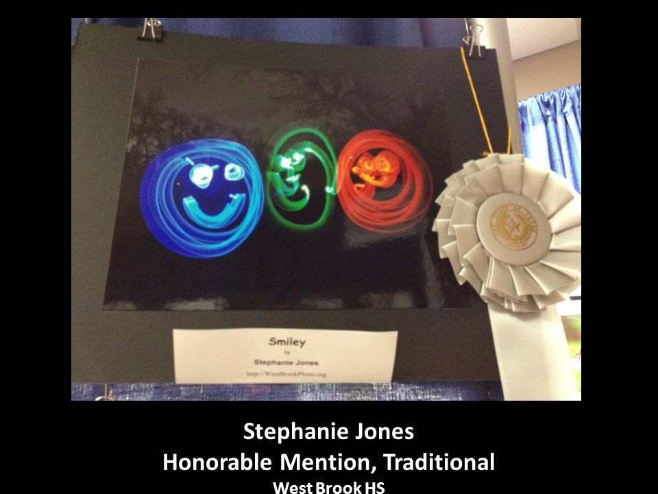 Stephanie Jones Honorable Mention, Traditional West Brook HS