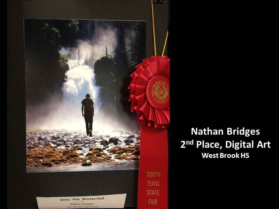Nathan Bridges 2 nd Place, Digital Art West Brook HS