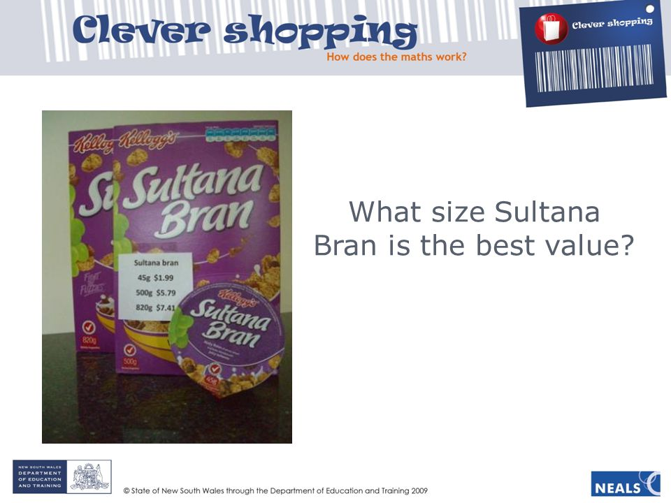 What size Sultana Bran is the best value