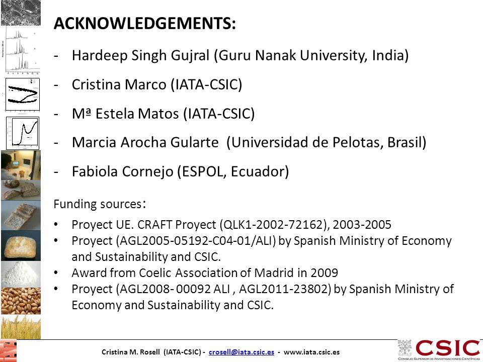 Cristina M. Rosell (IATA-CSIC) - crosell@iata.csic.es - www.iata.csic.escrosell@iata.csic.esCristina M. Rosell (IATA-CSIC) - crosell@iata.csic.es - ww