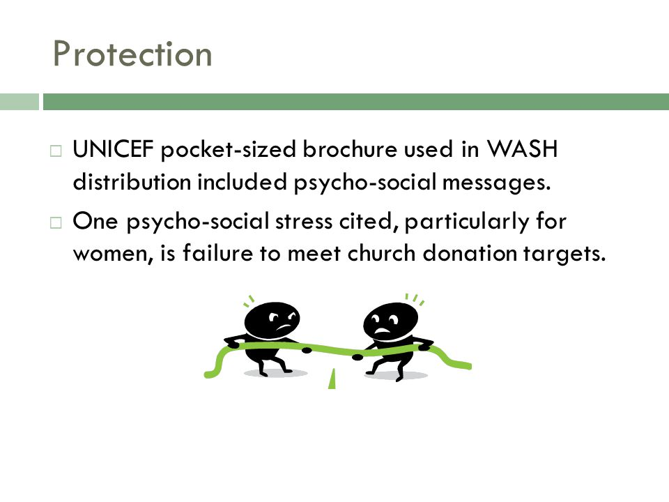Protection  UNICEF pocket-sized brochure used in WASH distribution included psycho-social messages.