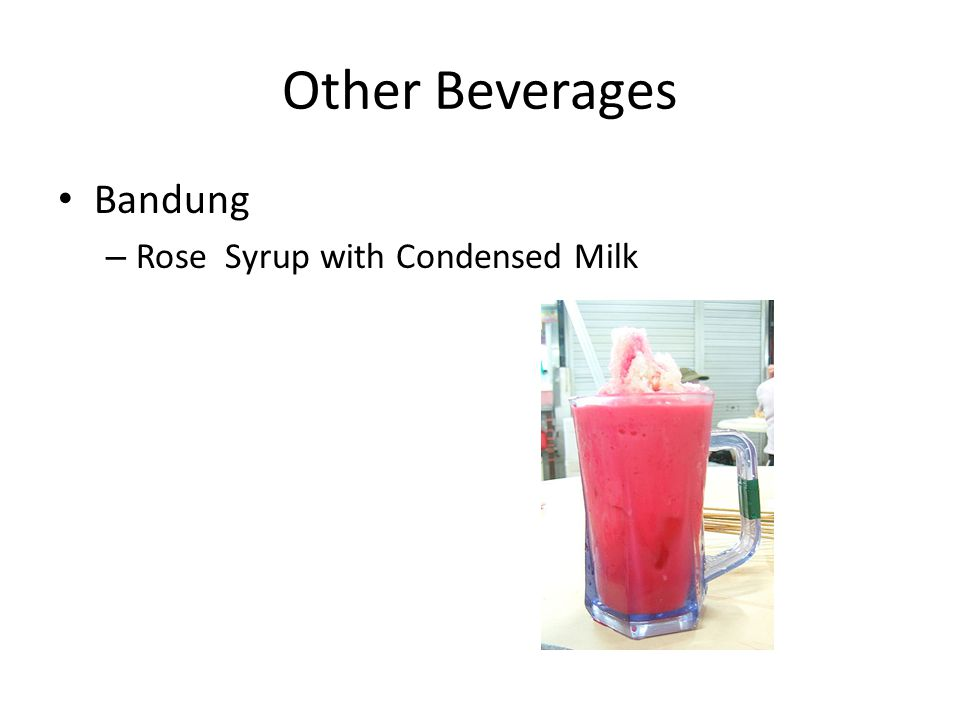 Other Beverages Bandung – Rose Syrup with Condensed Milk