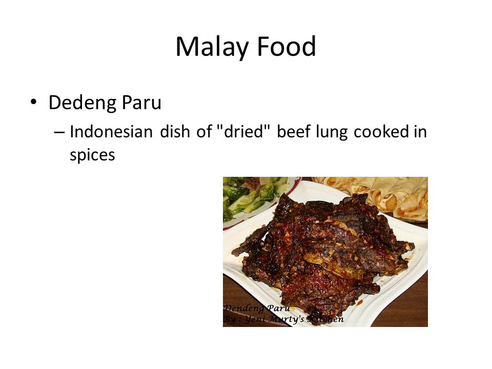 Malay Food Dedeng Paru – Indonesian dish of dried beef lung cooked in spices