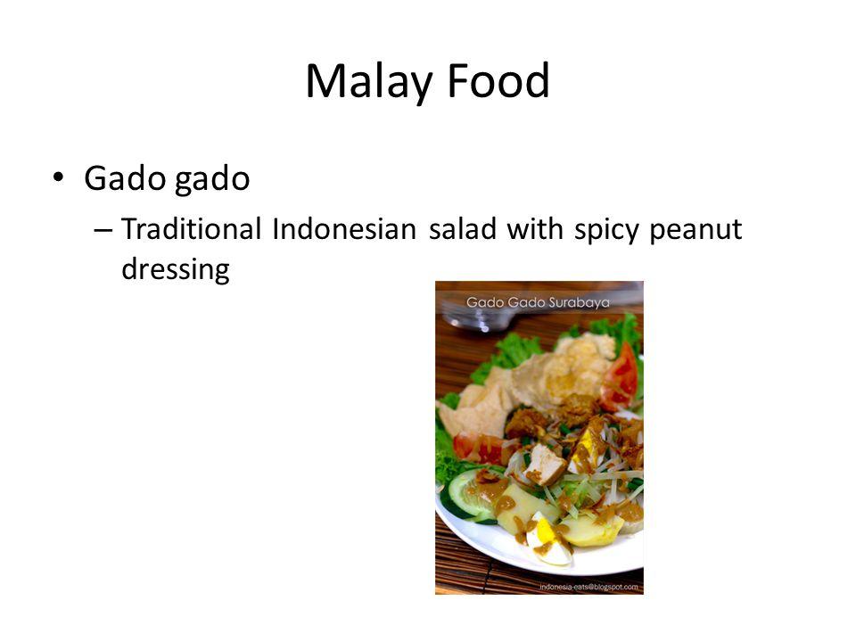 Malay Food Gado gado – Traditional Indonesian salad with spicy peanut dressing