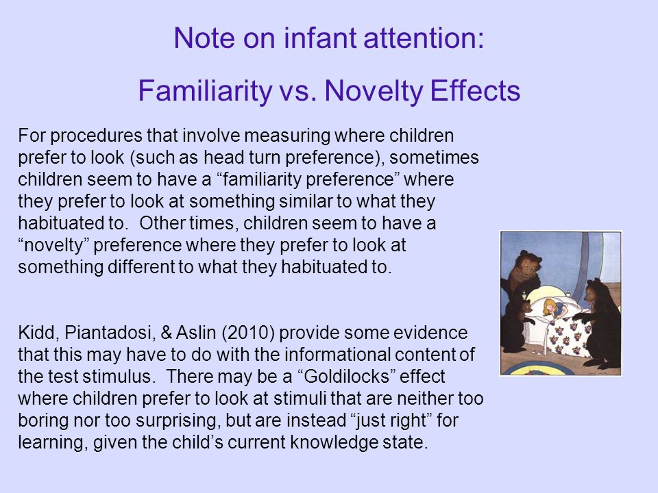 "Head Turn Preference Procedure Movies http://www.youtube.com/watch?v=mZAuZ--Yeqo ""How Babies Learn Language"" (first part, up to 2:04) Head Turn Prefer"