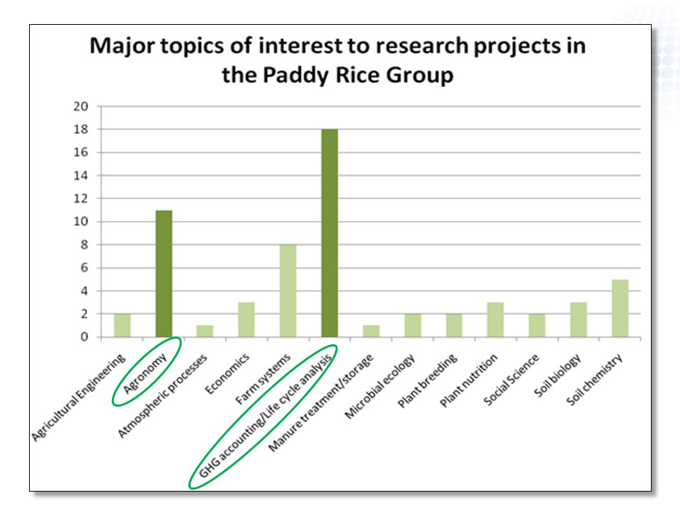 Paddy Rice Group Rice is staple food for > 2 billion people Paddy rice cultivation systems have different GHG emissions than other cropping systems 18