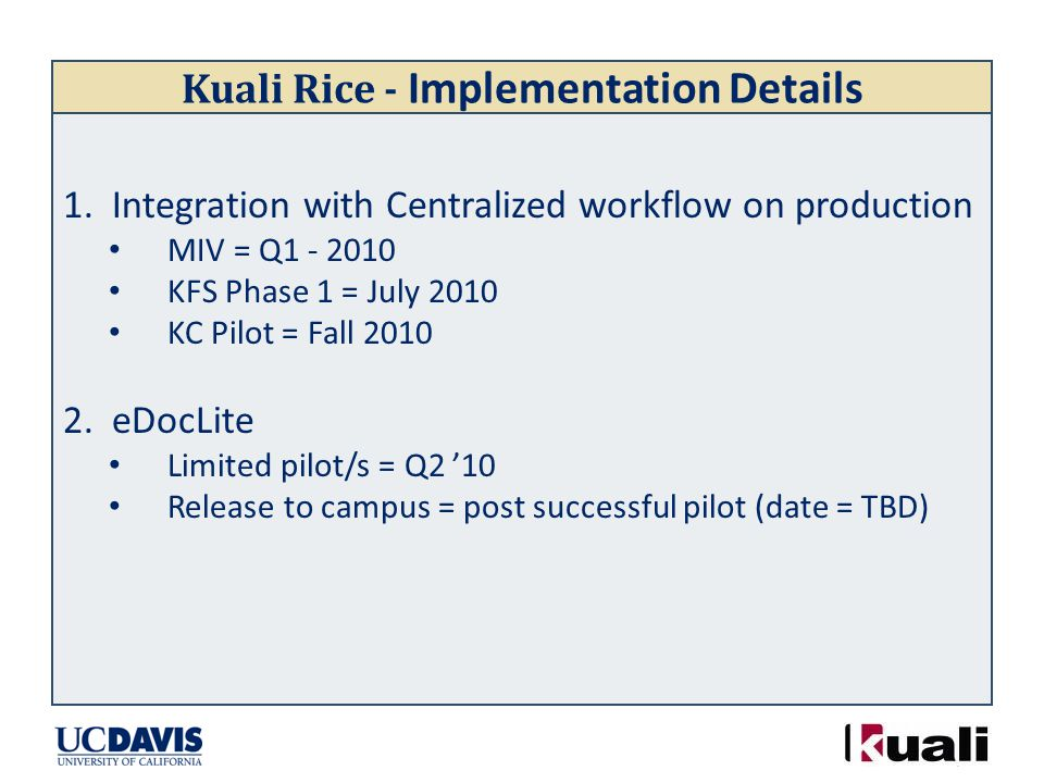 Kuali Rice - Implementation Details 1.