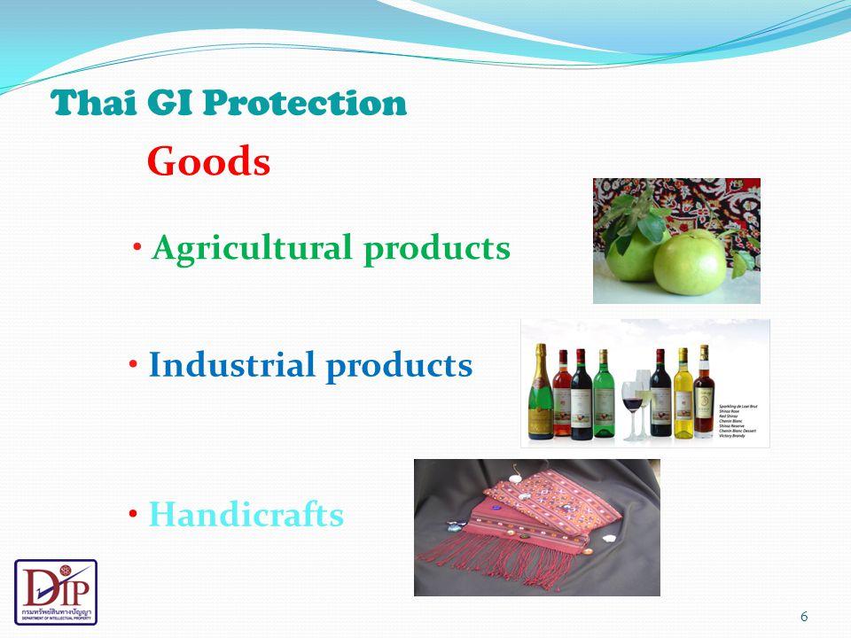 National Level Thailand's Initiative 1.Promote registration of Thai GIs 2.
