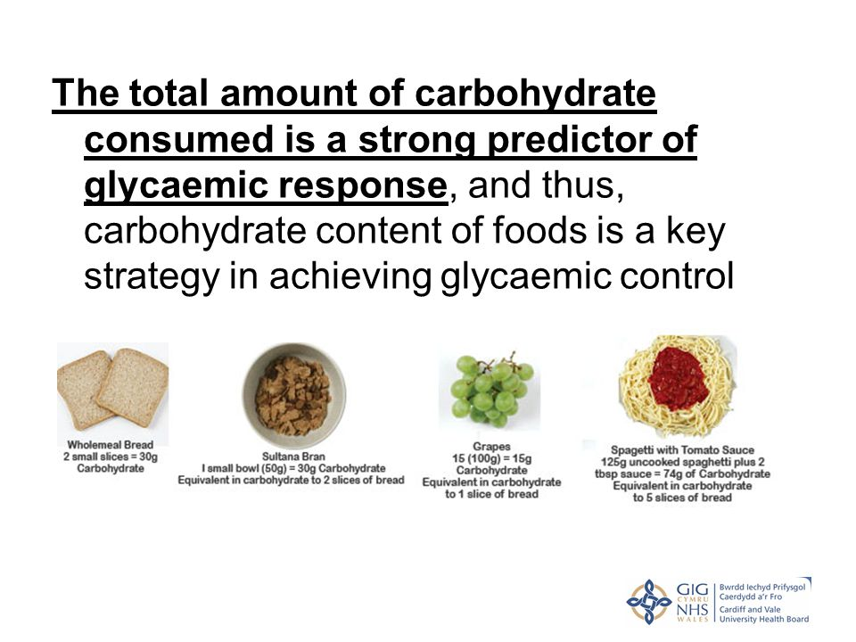 The total amount of carbohydrate consumed is a strong predictor of glycaemic response, and thus, carbohydrate content of foods is a key strategy in ac