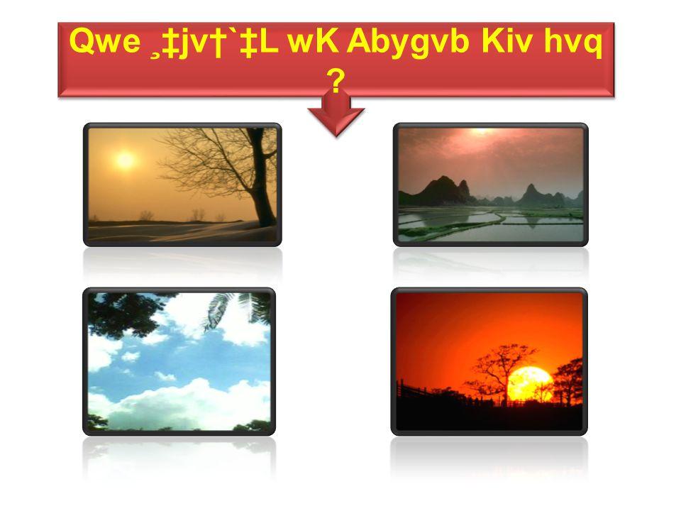 Qwe ¸‡jv†`‡L wK Abygvb Kiv hvq Qwe ¸‡jv†`‡L wK Abygvb Kiv hvq