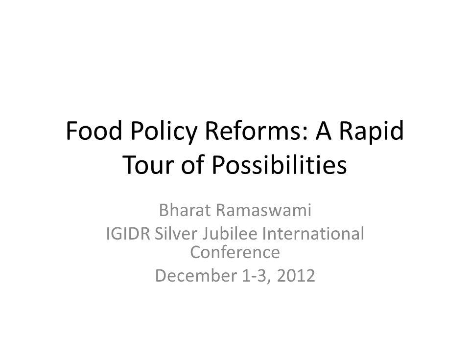 PDS Forever.(Kotwal, Murugkar and Ramaswami, 2011) Balance between politics and markets .