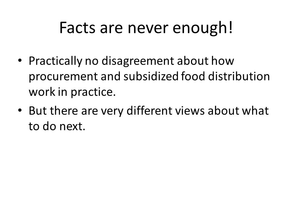 Part II – Distribution Reforms The distribution of food subsidies happens within a federal structure.