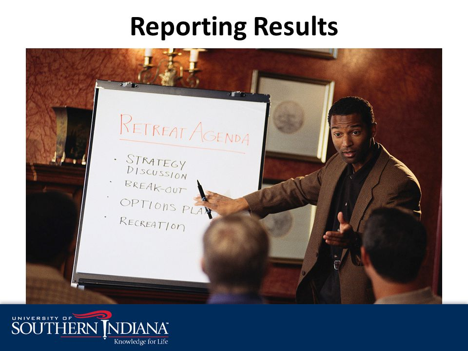 Reporting Results