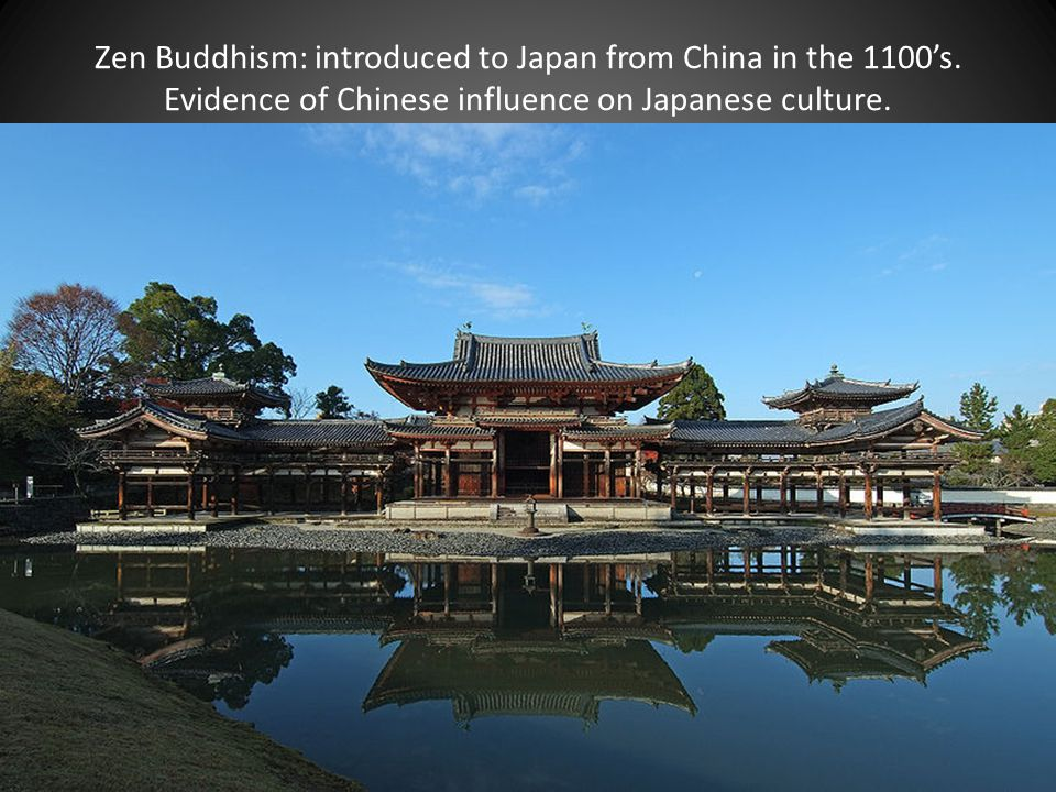 Zen Buddhism: introduced to Japan from China in the 1100's.