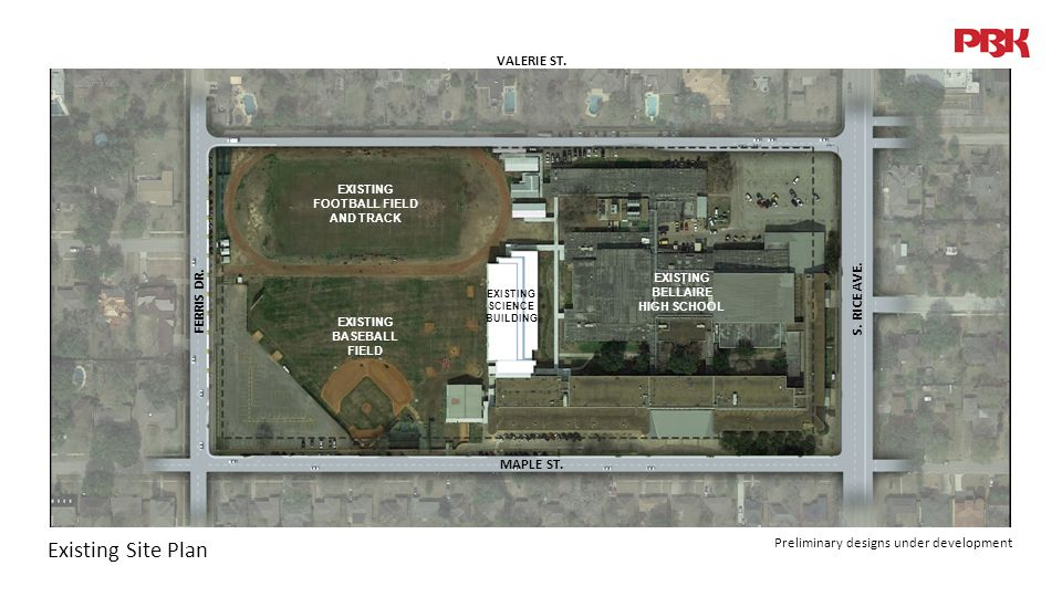 Existing Site Plan MAPLE ST. S. RICE AVE. FERRIS DR.