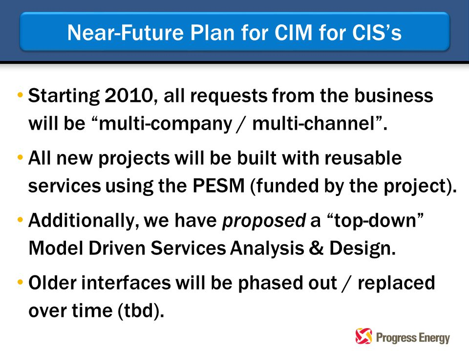"""Starting 2010, all requests from the business will be """"multi-company / multi-channel"""". All new projects will be built with reusable services using the"""