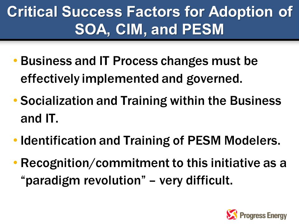 Business and IT Process changes must be effectively implemented and governed.