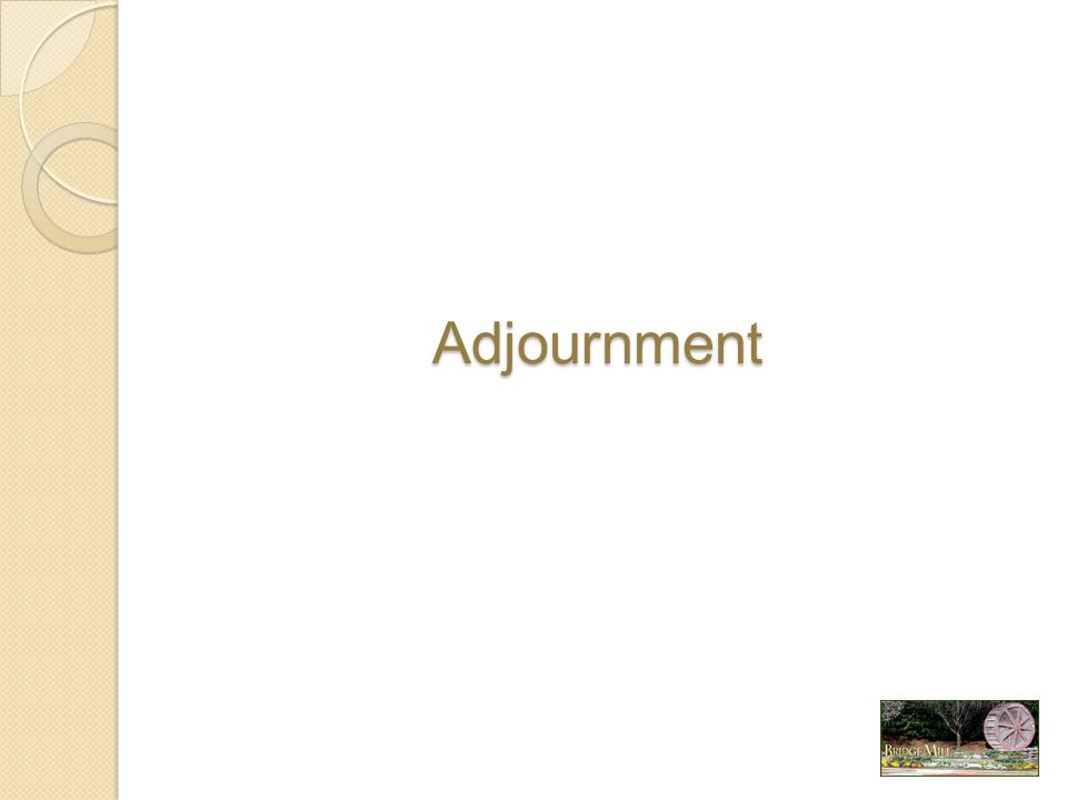 Adjournment