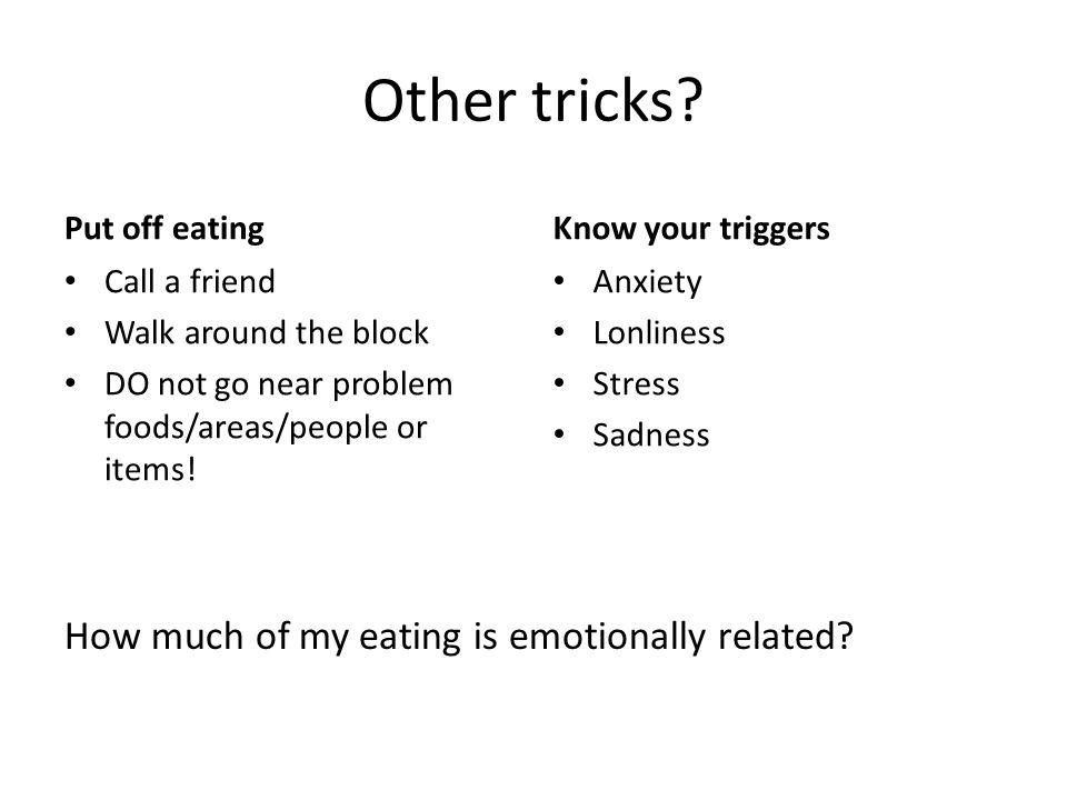 Other tricks.