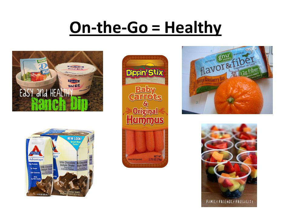 On-the-Go = Healthy