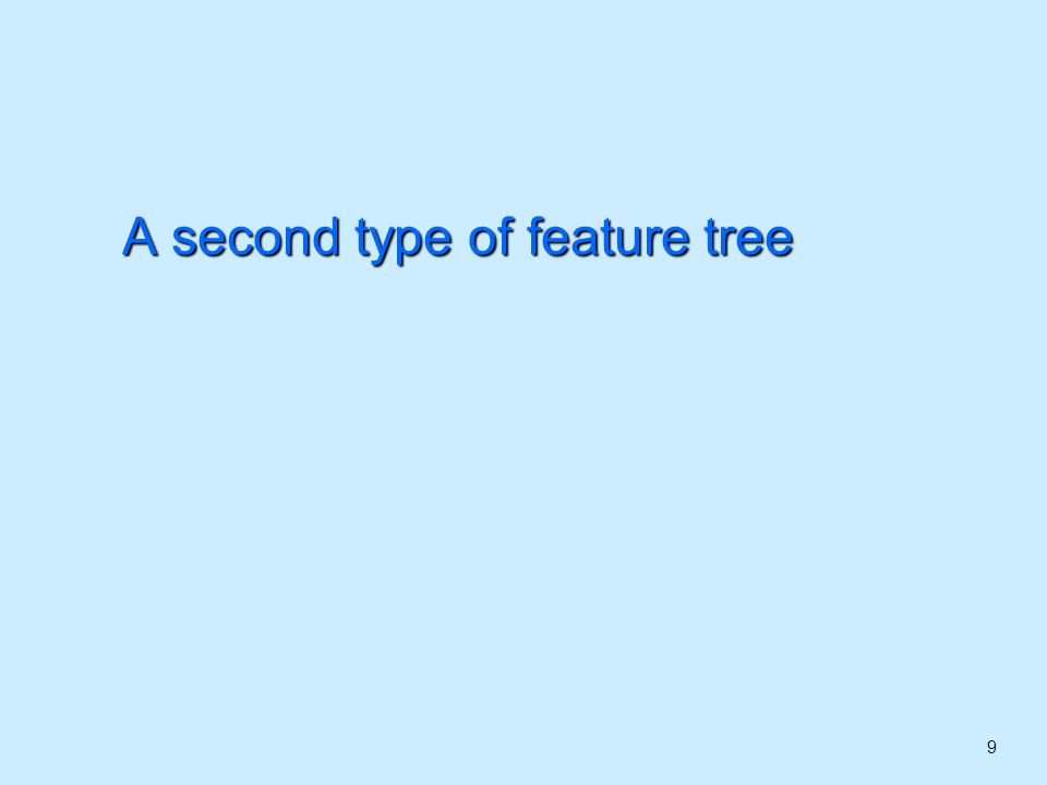 9 A second type of feature tree
