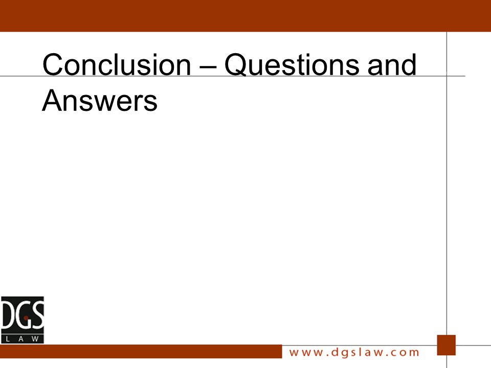 Conclusion – Questions and Answers