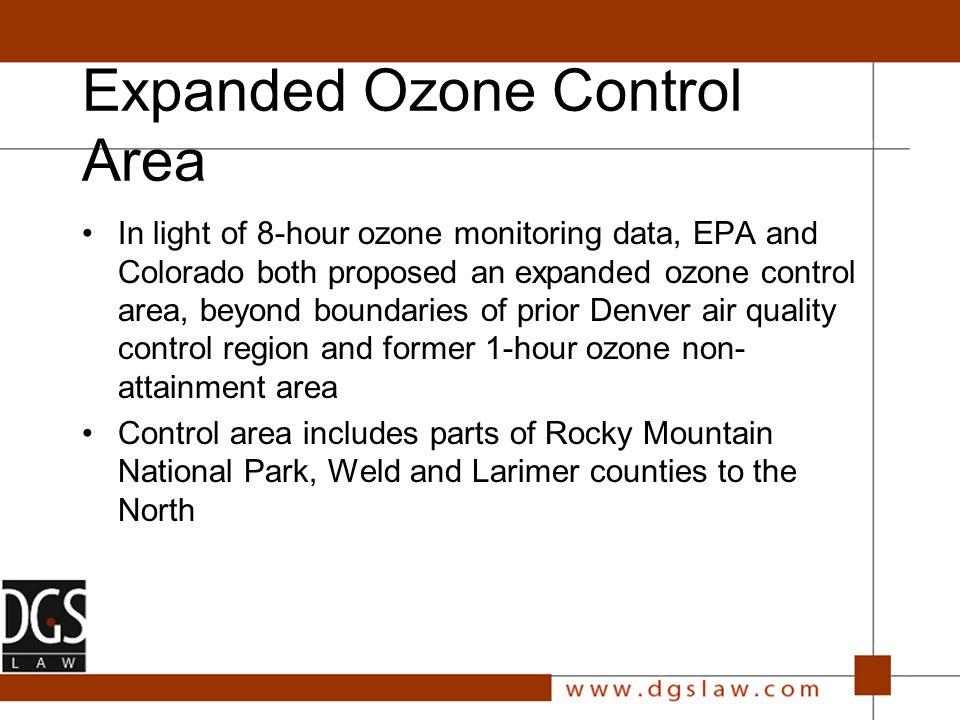 Ozone Control/Deferred Non- Attainment Area