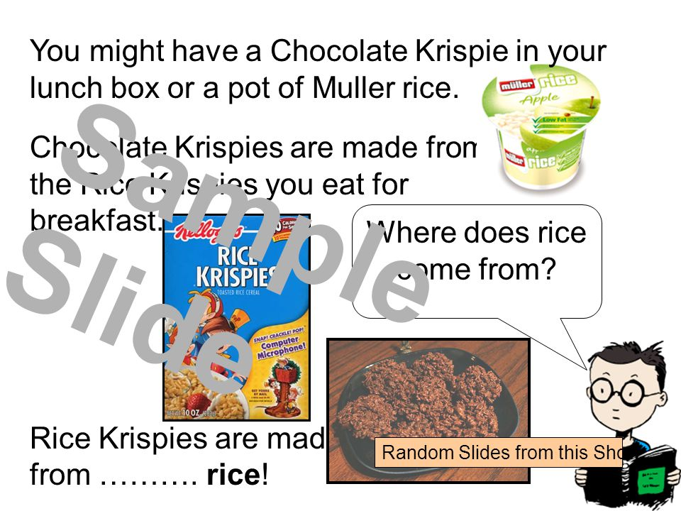 Chocolate Krispies are made from the Rice Krispies you eat for breakfast.