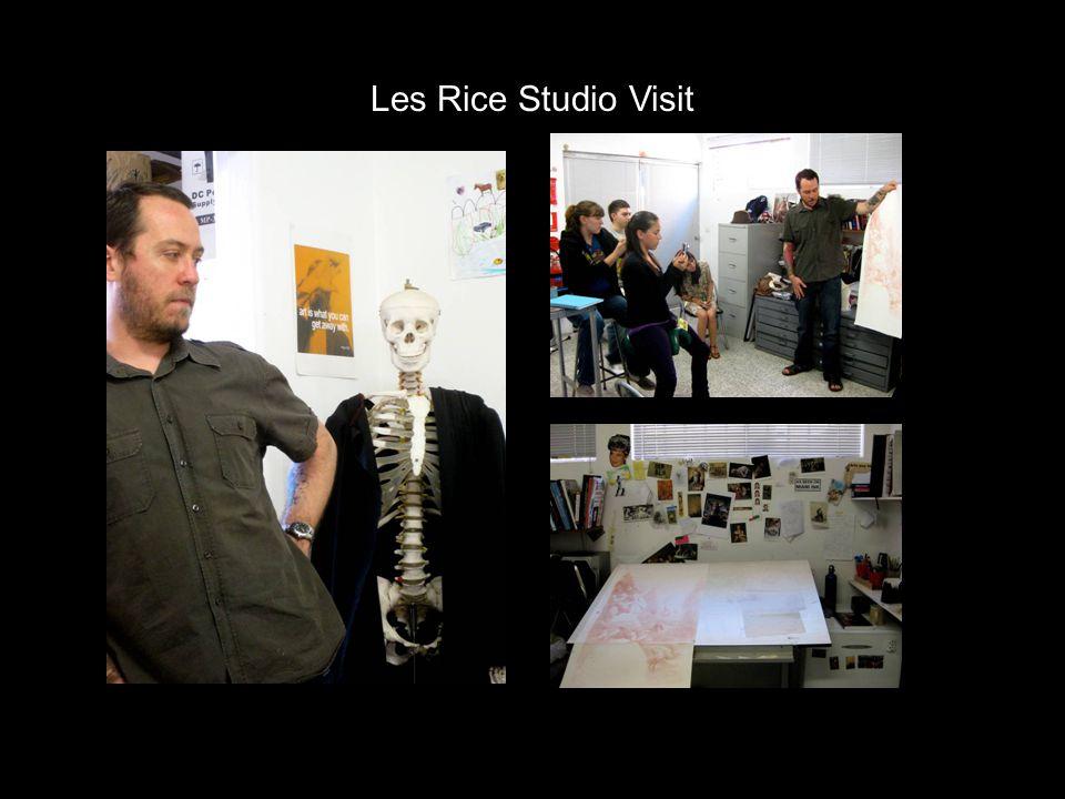 Les Rice Studio Visit